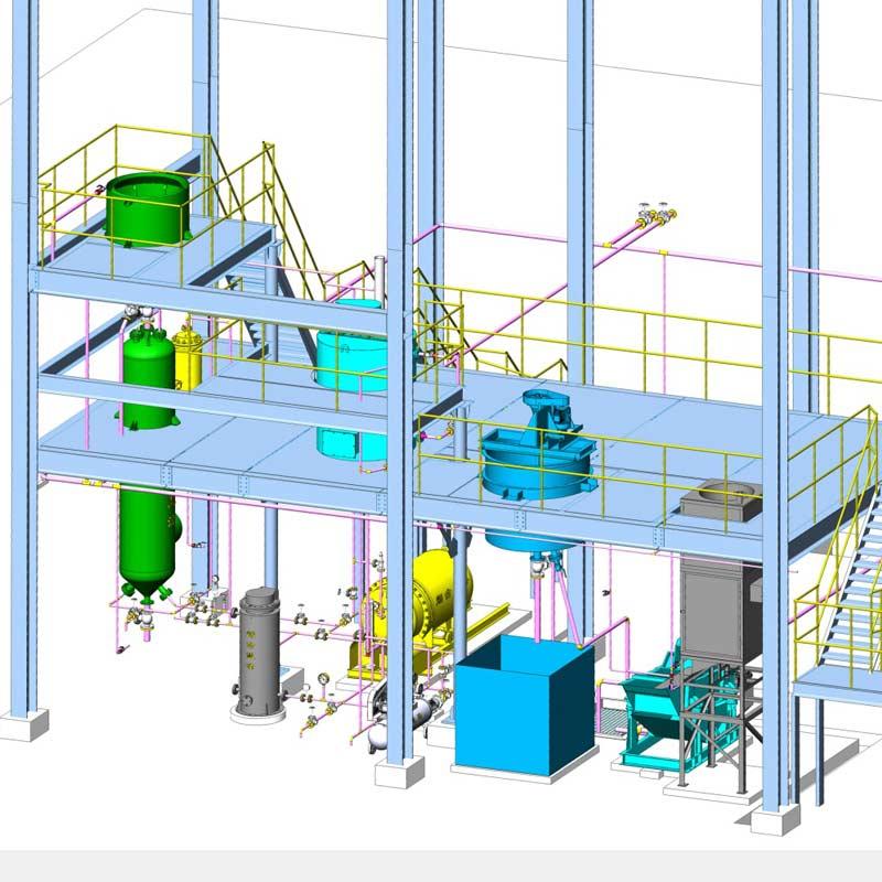 High Efficiency Elution-electrowinning Complete Plant